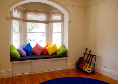 The beautiful bay window in our Creative Arts room
