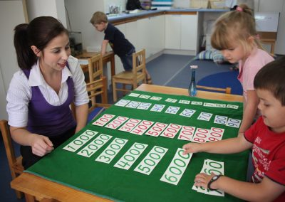 SA Montessori Golden Bead numbers
